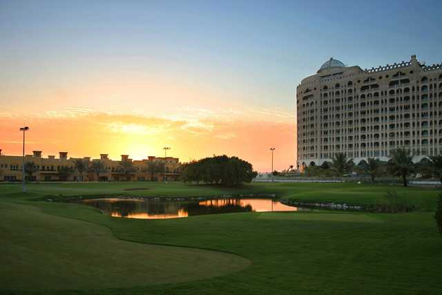 A sunset view from Al Hamra Golf Club and Resorts