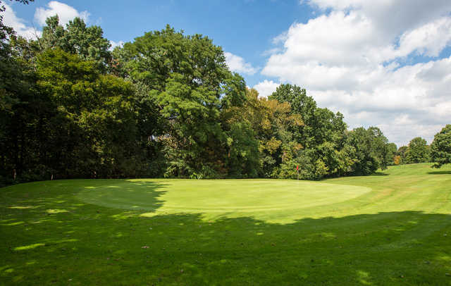 Looking  back from the 11th green at Bob O'Connor Golf Course at Schenley Park/The First Tee of Pittsburgh