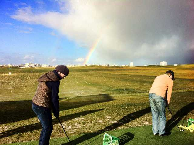 A view of the driving range at DailyGolf de Reims Bezannes