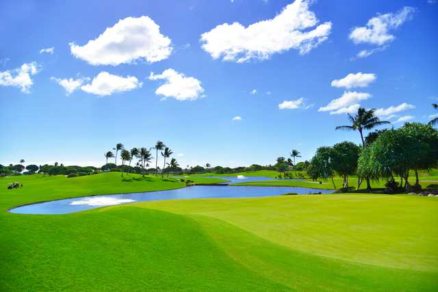 View of the 18th hole at Kapolei Golf Club