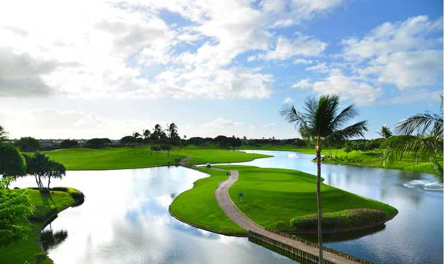 View of the 10th green at Kapolei Golf Club