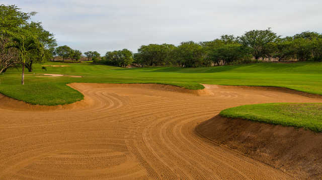 View of the 4th hole at Maui Nui Golf Club