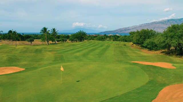 View of the 13th green at Maui Nui Golf Club