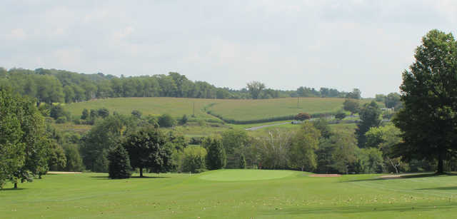 A view from a fairway at Wynding Brook Golf Club
