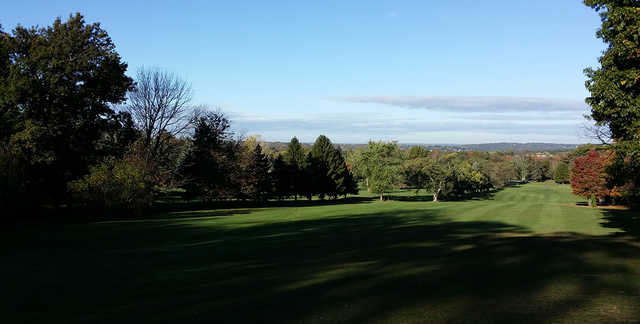 A view of a fairway at Sylvan Heights Golf Course