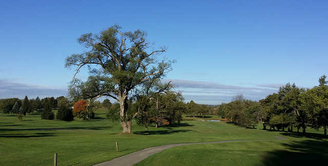 A sunny day view from Sylvan Heights Golf Course