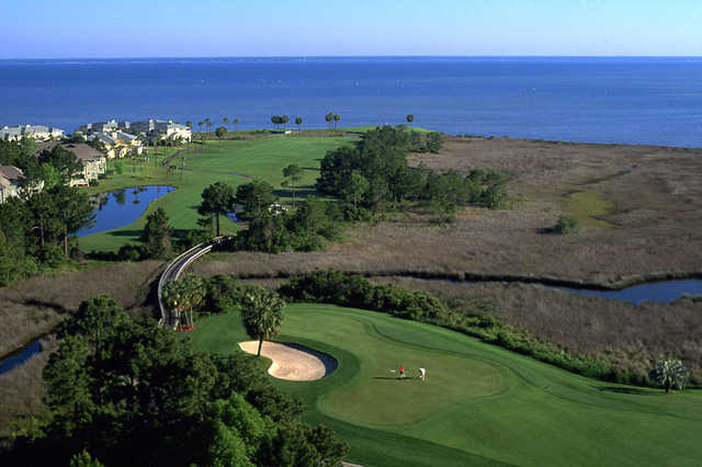 Aerial view from Links course at Sandestin Golf and Beach Resort