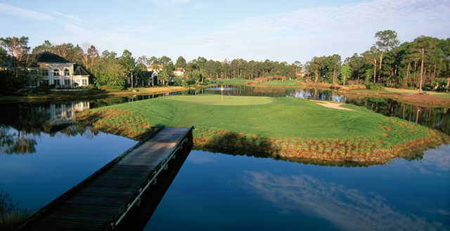 A view of the island green at Raven from Sandestin Resort
