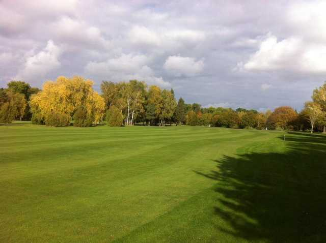 A fall day view of a fairway at Metz Cherisey Golf Club