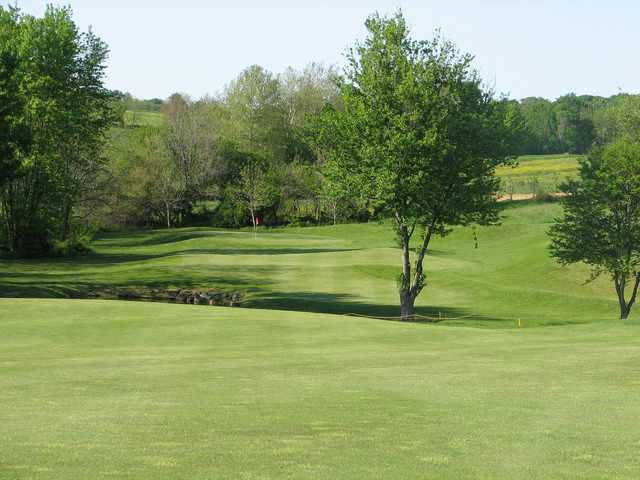 A view of hole #3 at Pilgrim's Oak Golf Course