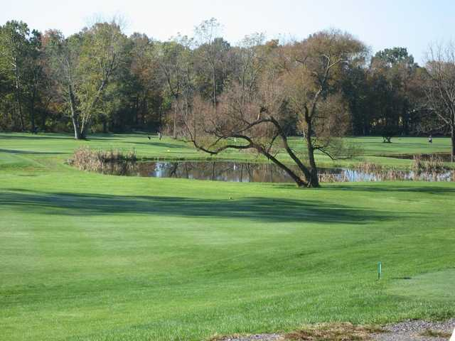 A view over a pond at Sweet Water Golf Course