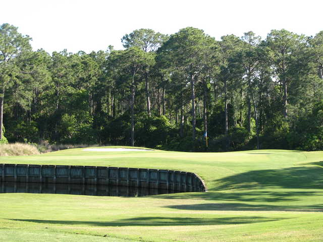No. 5 on the Creek course at Indian Bayou Golf Club in Destin, Fla.
