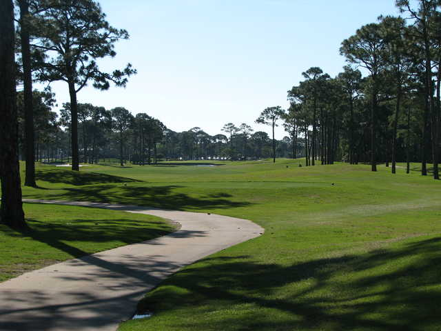 No. 9 on the Creek course at Indian Bayou Golf Club in Destin, Fla.