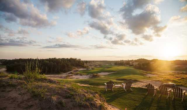 A view from Sand Valley Golf Resort