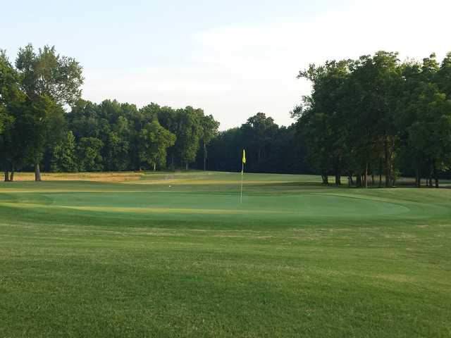 A view of a green at Bear Trace at Tims Ford State Park