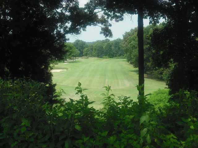 A view of a fairway from Bear Trace at Tims Ford State Park