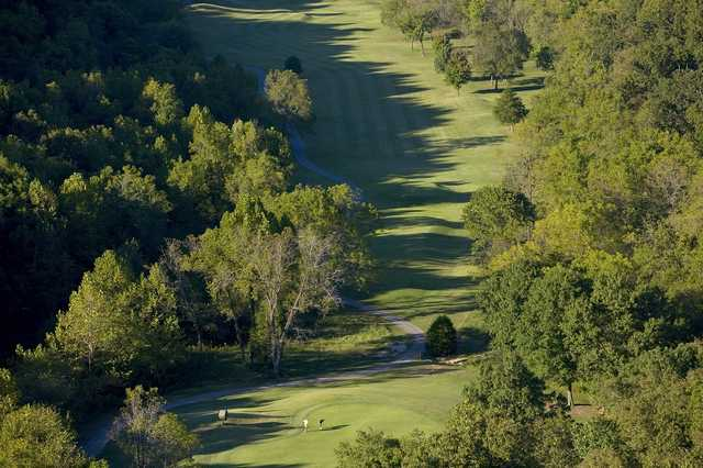 Aerial view of the Highlands Course at Bella Vista Country Club