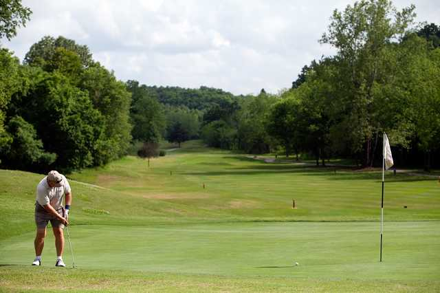 A view of the 4th hole at Highlands Course from Bella Vista Country Club