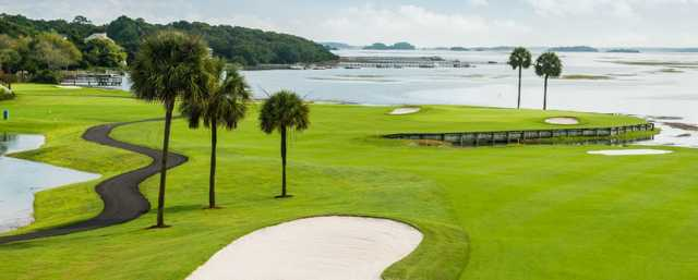 A view from a fairway at Oak Point at Kiawah Island Golf Resort