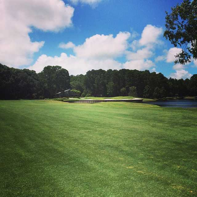 A view from fairway #18 at Dolphin Head Golf Course
