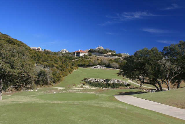 The second hole on the Ridge nine at Tapatio Springs golf resort heads uphill