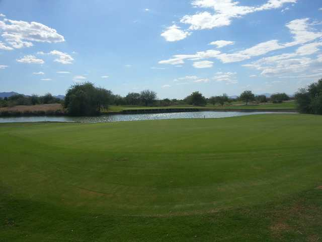 View of the 10th green at Aguila Golf Course