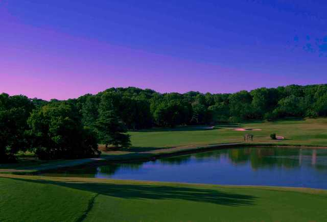 A view of 5th hole at Dogwood course at Temple Hills Country Club.