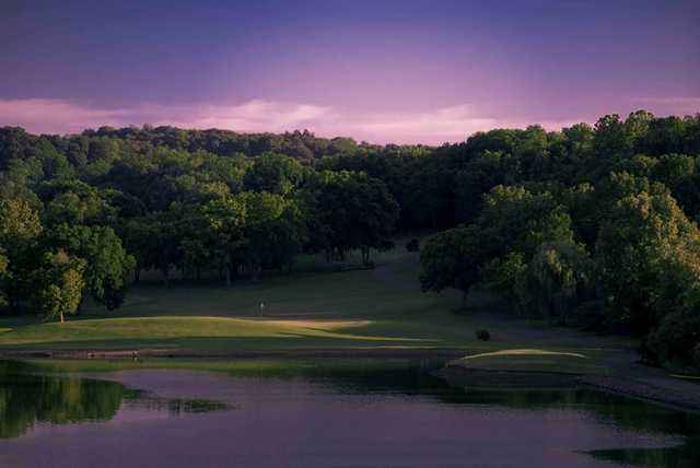 A view of the 5th green from Quail Run course at Temple Hills Country Club