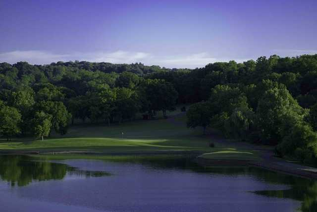 A view of the 5th green from Deer Crest/Quail Run course at Temple Hills Country Club