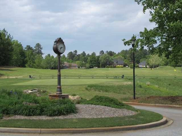A view of the driving range at River Falls Plantation