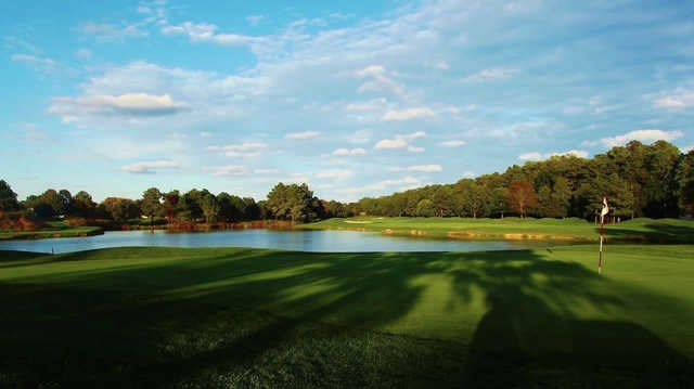 A fall day view of a hole at River Run Golf Course (Mary Miller)