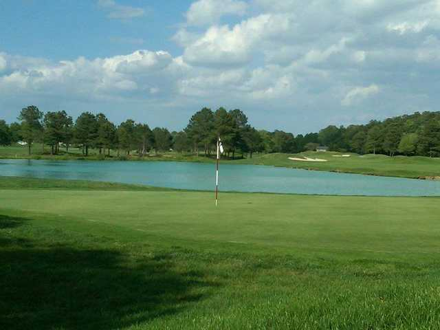 A view of a hole at River Run Golf Course