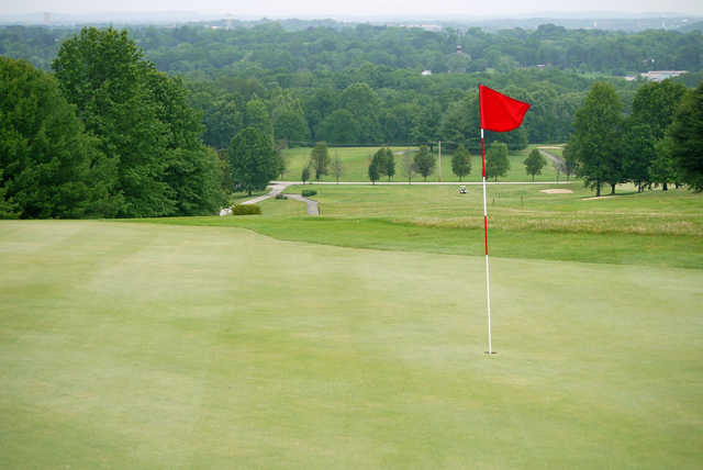 A view of the 4th green at Pickering Valley Golf Club
