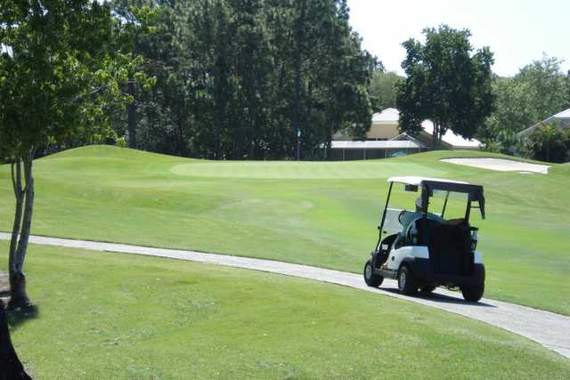 A view of a hole at University Park Country Club