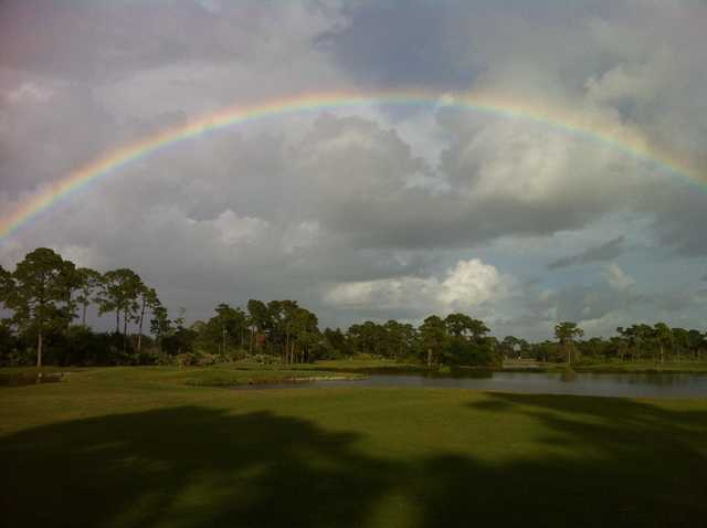The rainbow over Sandridge Golf Club