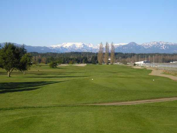 A view from Glacier Greens Golf Club
