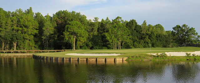 A view of green #17 at Heritage Springs Country Club