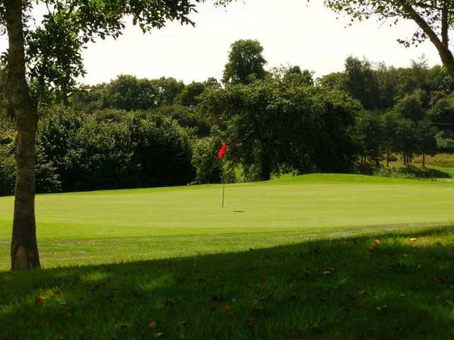 Looking back from a green at Rye Hill Golf Club