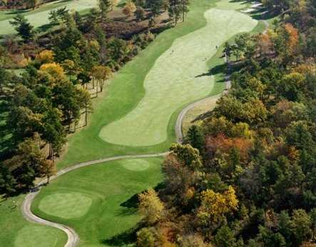 Aerial view of green #3 at Atlantic Country Club
