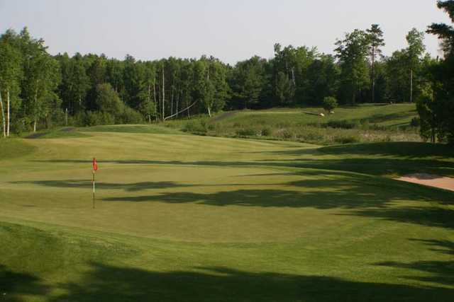 A view of the 3rd green at Minocqua Country Club