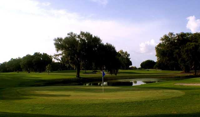 A view of a green at Miona Lake Golf Club