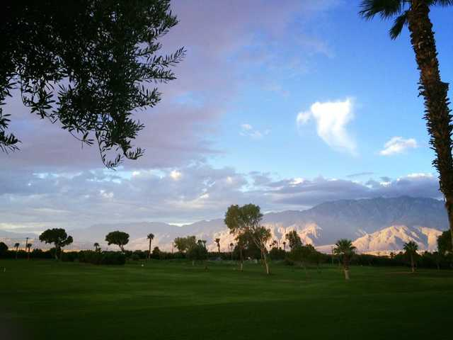 A view of a fairway at The Sands Golf & RV Resort