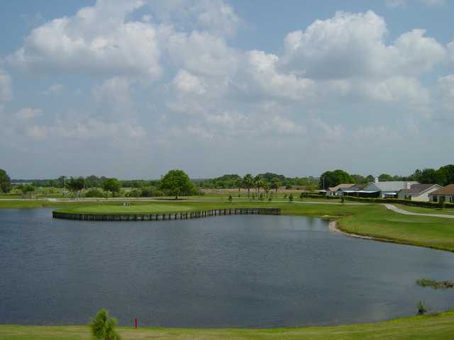 A hole that can be tough on a windy day at Summerfield Crossings Golf Club