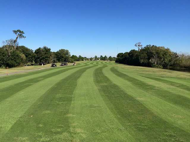 A view from a fairway at Summerfield Crossings Golf Club