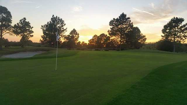 A sunset view of a hole at Summerfield Crossings Golf Club