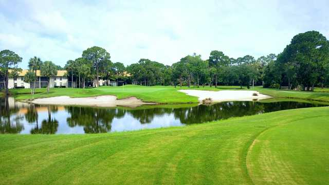 A view of hole #12 at The Meadows Country Club