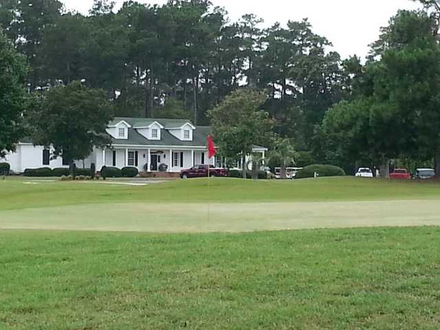 A view of a green at Traces Golf Club