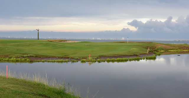 A view over the water from South Padre Island Golf Club