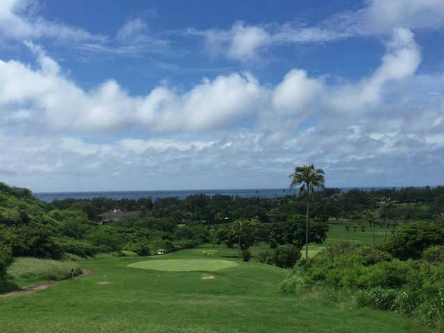 View of a green at Hawaii Kai Golf Course