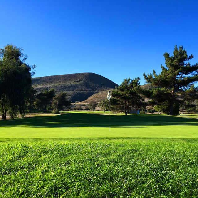 A view of the 1st green at Oceanside Golf Course